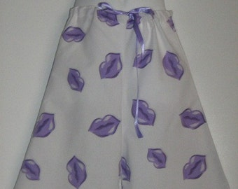 Fancy Pants Sweet Kissies Upcycled Pillowcase Gauchos Size 3T. SALE.