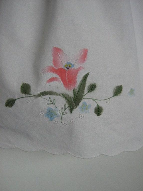 Girls Upcycled Dress. Eco Friendly Dress. Spring Dress. Summer Dress. Little Girls Dress. Pink Rose Dress. Pillowcase Dress.