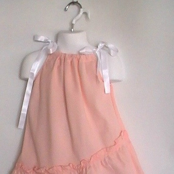 Toddler  Upcycled Clothing. Pillowcase Dress with Fancy Capris Size 3T.