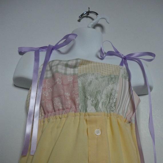 Girls Easter Dress. Little Girls Dress. Upcycled Dress. Eco Friendly. Spring Fashion. Shirt Dress. Size 4.