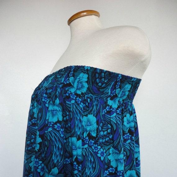 Baby Doll Tube Dress. Boho Dress. Retro Dress. Blue Floral Dress. Beach Dress. Upcycled Dress.Spring Dress. Summer Dress. Short Dress.