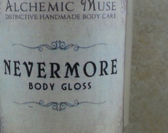 Nevermore - Body Gloss - Blackberry Wine, Wild Herbs, Freshly Dug Earth