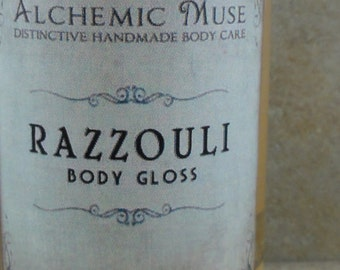 Razzouli - Body Gloss - Raspberry Puree, Ruby Red Grapefruit, Dark Patchouli