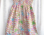 Sunshine Shirred Dress - Butterfly Rainbows