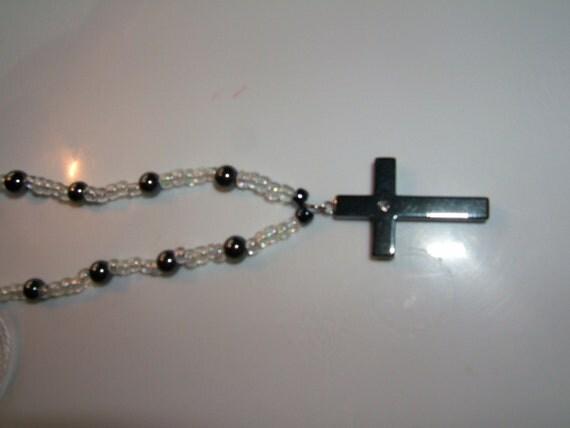 Hematite Cross Necklace