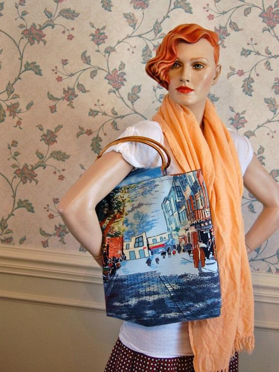 Street scene handbag - SALE