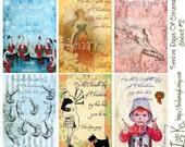 Collage Sheet---Twelve Days Of Christmas--Sheet 2