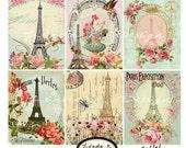 Digital Scrapbooking-Collage Sheet-Digital Card-Digital Image......Collage Sheet...Tour Eiffel