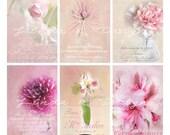 Fleur de Paris--Digital Scrapbooking-Collage Sheet-Digital Image-Digital Card