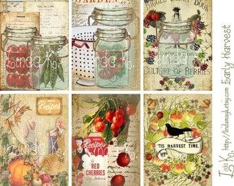 Early Harvest--Digital Scrapbooking-Collage Sheet-Digital Card-Digital Image