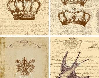 Collage Sheet.....Carte Brun