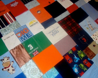 Custom Baby Memory Quilt made from your Little Love's clothing - large throw size