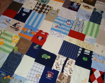 Custom Memory Quilt made from your Little Loves Clothing- Toddler/ Crib size