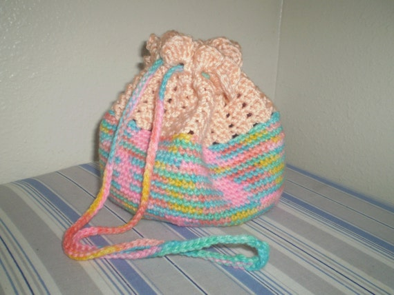 Convertable Bag That Turns Into A Baby Doll Bassinet CROCHET