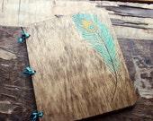 Custom Wedding Guest Book - Peacock Feather