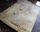 Custom Wedding Guest Book - Dandelion rustic wedding guest book wedding sign in book shower book wedding memory book wedding reception book