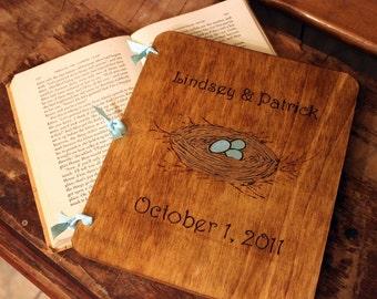 Custom Wedding Guest Book - Nest