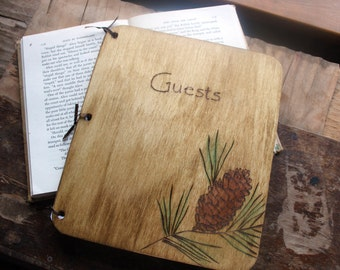 Custom Wedding Guest Book - PInecone