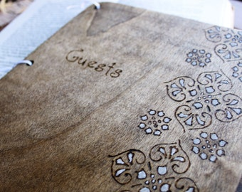 Custom Wedding Guest Book - Floral
