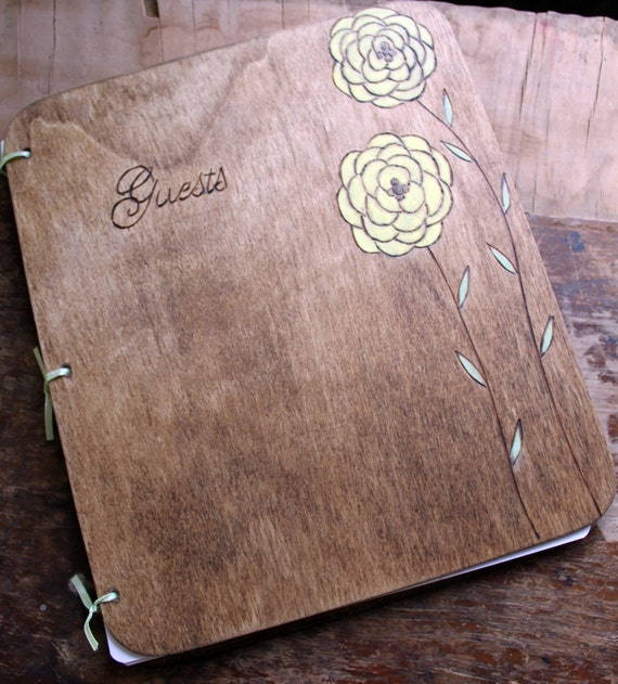 Custom Wedding Guest Book - Ranunculus