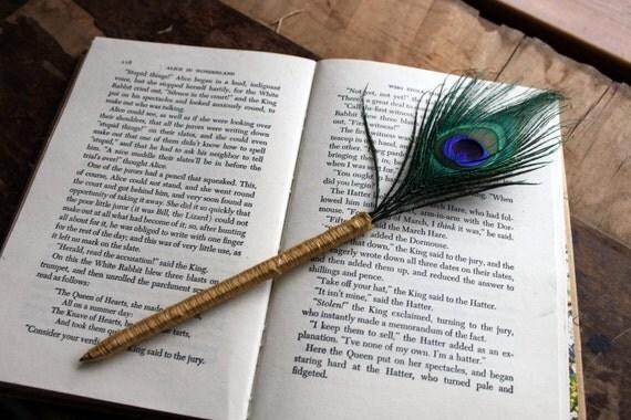 Guest Book Pen- Peacock Feather