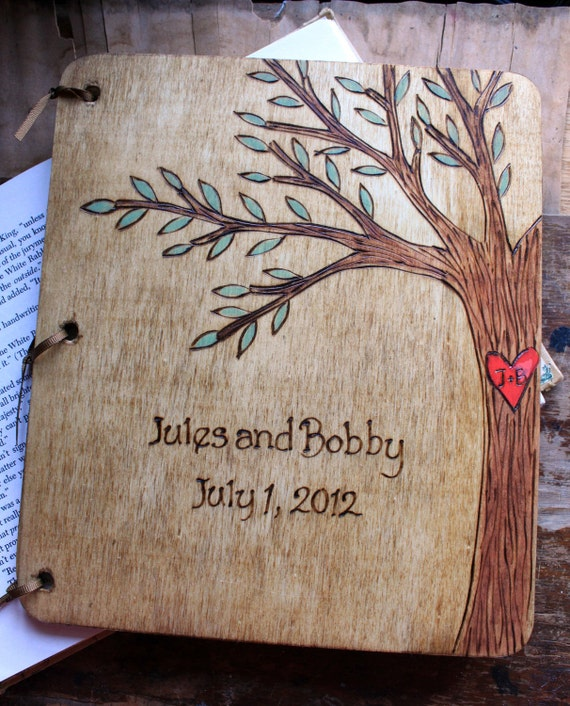 Custom Wedding Guest Book - Tree