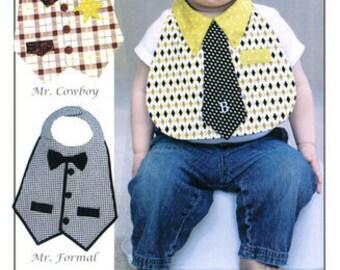 PATTERN Little Man BIBS just for little boy babies