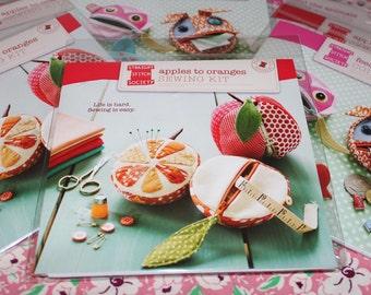 SEWING KIT Apples to Oranges Fruit Pattern