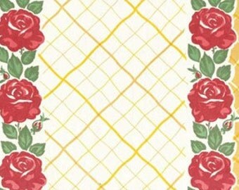 FABRIC GRANNY'S Kitchen Towel Fabric ROSES Moda toweling 1 Yard