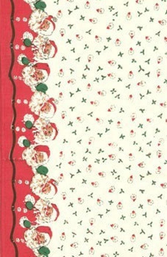 Sale FABRIC Kitchen Toweling SANTA CHRISTMAS Just Like Granny Had 1 Yard     We combine shipping