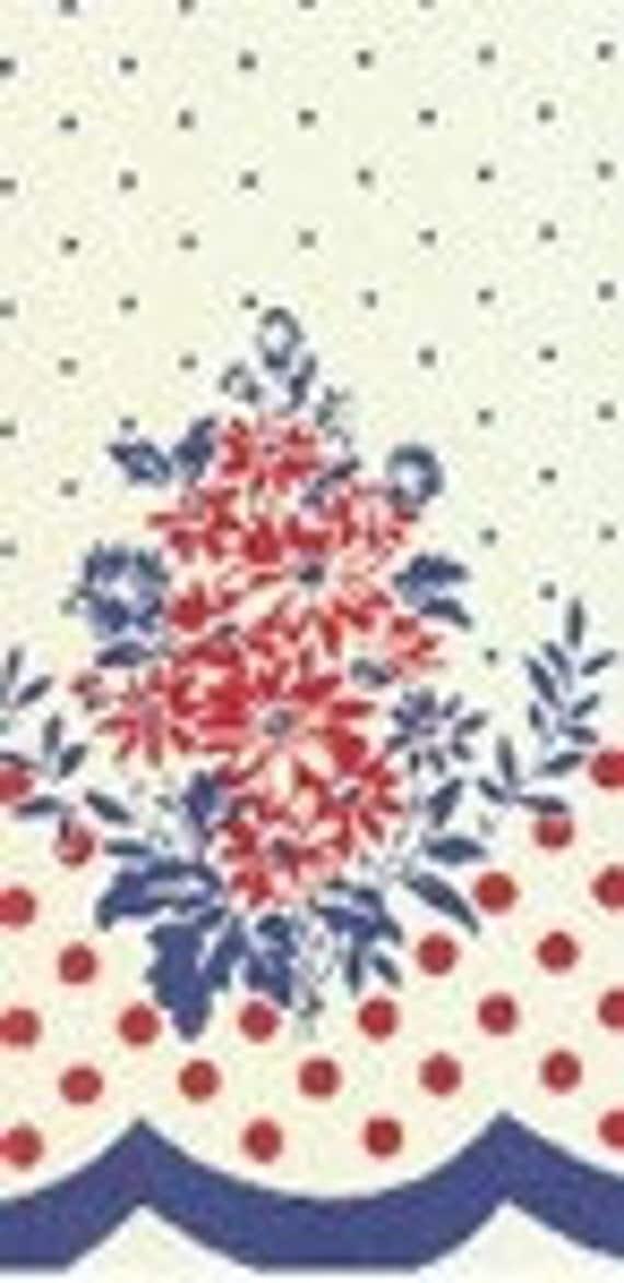 SALE  Vintage Style 1940s era Tablecloth Fabric You Sew Polka Dots MODA