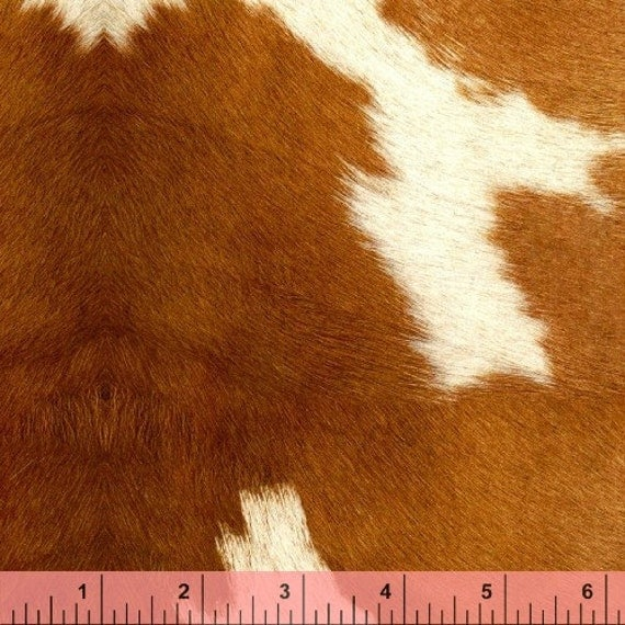Retro Anna Griffin Cowhide Cow Hide Fabric Material Oop The