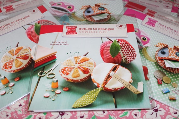 SEWING KIT Apples to Oranges Fruit Pattern