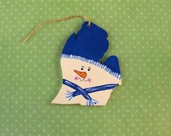 Michigan Snowman Ornament