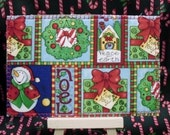 More Christmas Wishes Is An American Handmade All Fabric Postcard