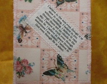 Even though I believe Quilted Fabric Postcard
