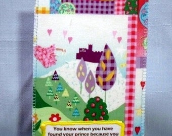 Youre smile on your face Fabric Postcard Home made in America