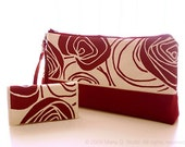 Burgundy 3-way bag with matching wallet -- RESERVED for rodrig99