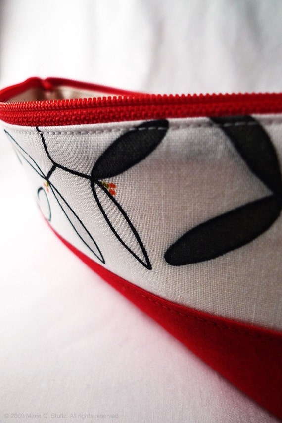 Small Red Zipper Pouch