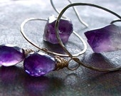In the Raw - Amethyst and Sterling Silver Earrings