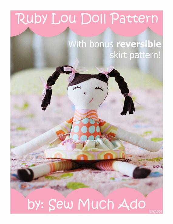 Ruby Lou PDF Doll Pattern