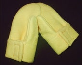 ORGANIC Cotton Mittens, Yellow, Black or Natural Fleece, Baby and Toddler Sizes