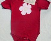CLEARANCE - Organic One-Piece, Flowers - Size 12-18 Months