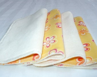 CLEARANCE - Deluxe ORGANIC Baby Wipes, Velour/Knit, Set of 4