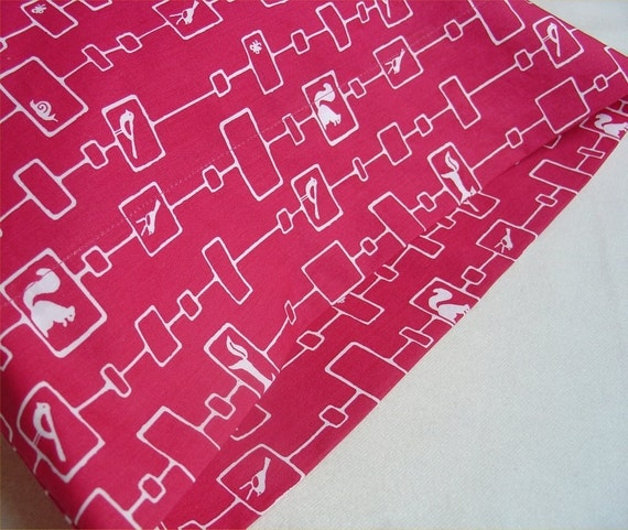 ORGANIC Cotton Pillowcase, Toddler/Travel-Sized, Woodland Chain