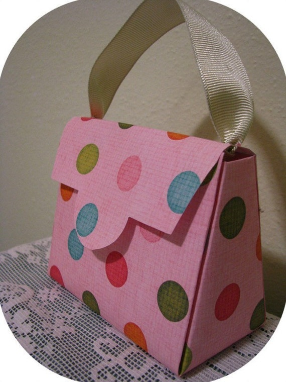 Purse Gift Box and Party Favor Pattern Template and Instructions Three Sizes Including Very Large