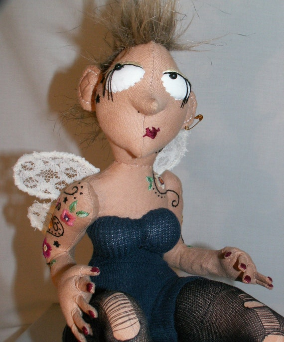 Rock Angel - OOAK Textile Art Doll