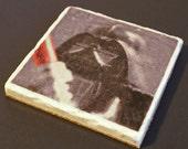 Darth Vader Marble Tile Photo Coaster