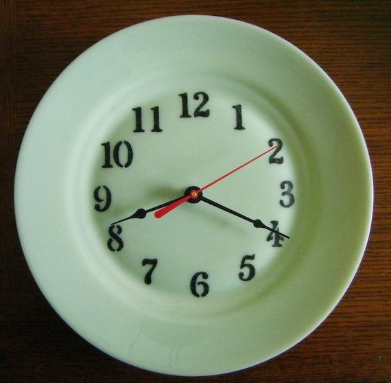 Gibson Designs Reproduction Jadeite Jadite Glass Custom Plate Clock