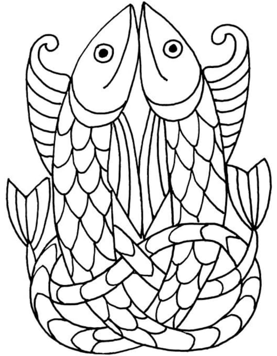 Pisces celtic fish symbol clear rubber stamp free ship to for Fish symboled stamp